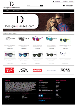 Bild der Referenz: Onlineshop Design-Glasses
